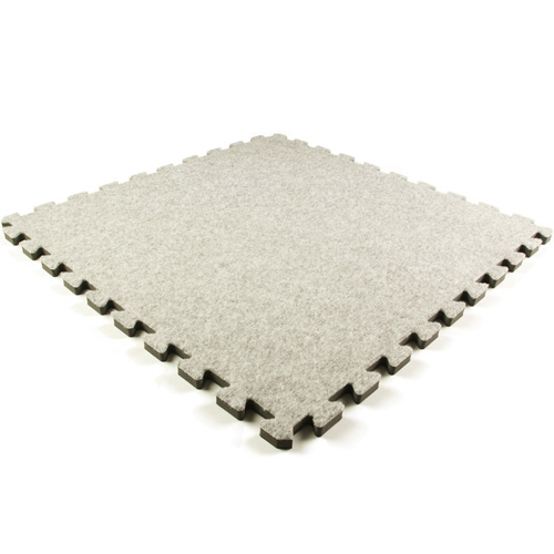 Interlocking carpet light gray